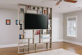 wall room divider custom made lexington room divider bookshelf tv stand for