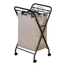 sterilite wheeled laundry hamper amazon com household essentials 7172 rolling laundry hamper with
