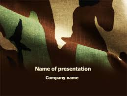 camouflage powerpoint template military powerpoint template free