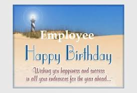lovely birthday wishes with graceful card for best employee