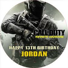 call of duty cake topper call of duty infinite warfare 7 5 cake topper rice paper