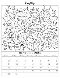 october 2016 calendar color stitching patterns fun