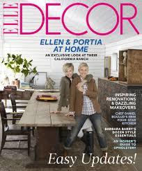magazines home decor ellen degeneres and portia de rossi show off their gorgeous