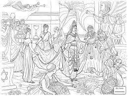 judgment of solomon christianity bible coloring pages for kids