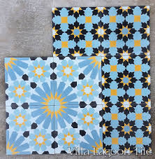 tangier and casablanca cement tile from villa lagoon tile