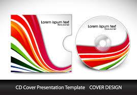 colorful cd cover presentation elements vector set 01 vector