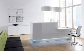 Designer Reception Desk With Simple Lines And A Sleek Surface This Contemporary Reception