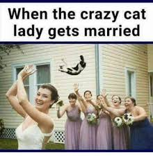 Crazy Cat Lady Memes - when the crazy cat lady gets married crazy meme on sizzle