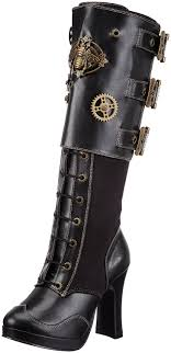 womens boots and shoes pleaser s crypto 302 knee high boot steunko