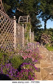 Trellis Arch Terracing With Herbaceous Border Plants Trellis Arch U0026 Bird Bath
