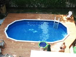 Pictures Of Inground Pools by Best Semi Inground Pools Ideas