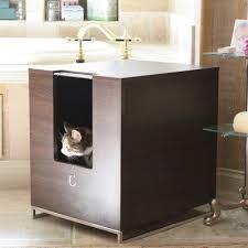 Decorative Cat Box Mr Herzher U0027s Jumbo Decorative Litter Pan Cover U2013 Dark Brown