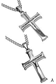 armor of god necklace armor of god cross necklace ephesians 6 steel curb chain