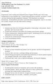Resume Samples For Caregiver by Inspirational Direct Support Professional Resume 3 Direct Support