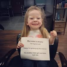haircuts for 9 year old girls cute little girl gets first haircut for cancer patients smooth