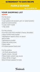 perfectly purple burger recipe tastemade