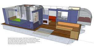 Houseboat Floor Plans by Trailerable Unfolding Houseboat Page 5 Boat Design Net