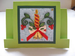 christmas card quilled christmas candle quilling christmas