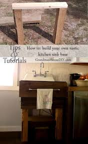 Rustic Kitchen Sink How To Build Your Own Rustic Kitchen Sink Base Tip Junkie