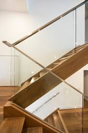 stairs staircase glass balustrade timber stainless steel