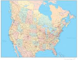 us states detailed map detailed united states and canada map in adobe illustrator format