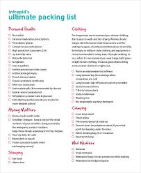 Alaska travellers cheques images Packing list template 14 free word pdf documents download jpg