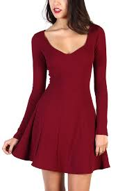 Long Sleeve Black Fit And Flare Dress Sleeve Fit And Flare Dresses