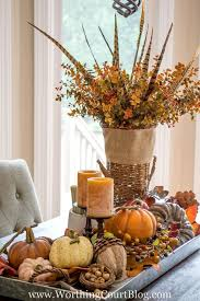 Dining Room Tables Decorations 37 Fall Table Centerpieces Autumn Centerpiece Ideas