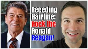 ronald reagan haircut receding hairline rock the ronald reagan youtube