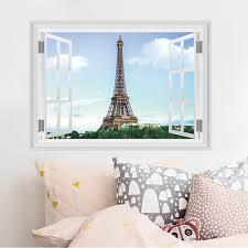 Eiffel Tower Garden Decor Paris Eiffel Tower Wall Stickers Living Room Bedroom Restaurant Tv