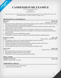 Stand Out Resume Examples by Cool And Opulent Cashier Resume Sample 1 Unforgettable Part Time