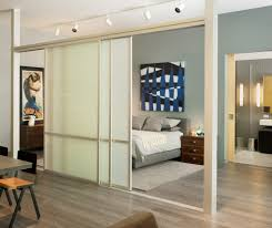 room divider doors hall modern with graphic artwork frosted glass