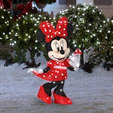 Amazon Outside Christmas Decorations Amazon Com Gemmy Disney 2 56 Ft Minnie Mouse Outdoor Christmas
