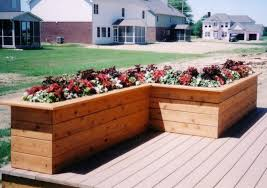 making deck planter box planter designs ideas