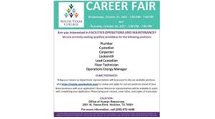 south texas college holds career fair for numerous positions oct