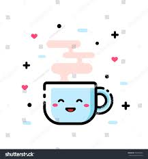 cute cup designs cute cartoon cup tea funny cartoon stock vector 594706352