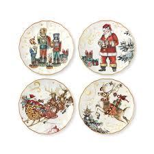 christmas plate twas the before christmas salad plates set of 4 multi