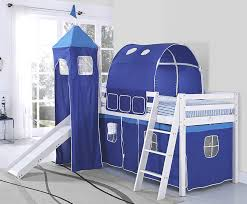 Bunk Beds And Mattress Cabin Bunk Bed Mid Sleeper With Slide And Ladder Wooden And