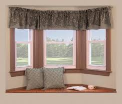 Small Curtains Designs Simple Bay Windows Decor With Small Curtain And Window Seating