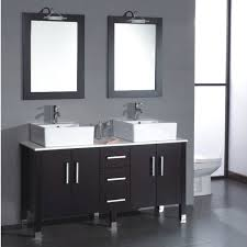 floating vanity with vessel sink awesome art kallista 77 inches modern double vessel sink bathroom