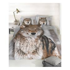 Cow Duvet Cover Wolf Design King Size Duvet Cover And Pillowcases Set