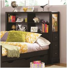 white bookcase bed furniture home cherry solid wood twin bookcase bed frame with