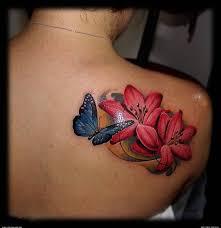 Flower Butterfly Tattoos 01 Flower With Butterfly Elaxsir