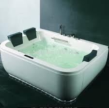 Wood Heated Bathtub Bathtub Spa Air Bubble Bathtub With Digital Control