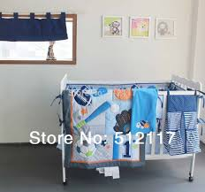 Cot Bedding Sets For Boys New 7pcs Embroidered Base Ball Sports Boy Baby Cot Crib Bedding