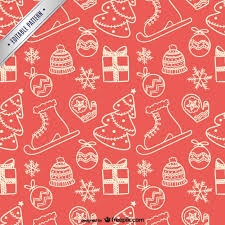 christmas pattern christmas elements pattern vector free