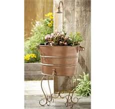 washtub planter u0026 stand flowers plants and garden structures