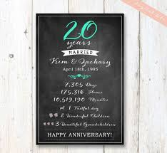 20th wedding anniversary gifts the 25 best 20 year anniversary gifts ideas on 10