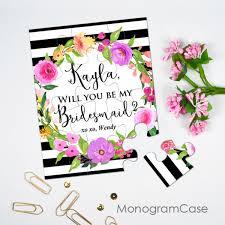 will you be my bridesmaid custom bridesmaid puzzle