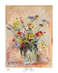 Glass Vase Painting Limited Edition Print Of Jacques Pepin U0027s Original U201dglass Vase U201d